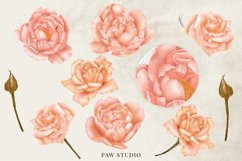 Bohemian Red Roses Leaves Country Wood Clipart Product Image 2
