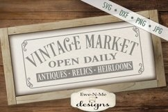 Vintage Market Open Daily - SVG DXF Files Product Image 1