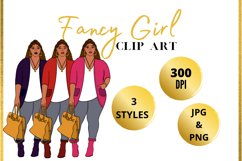 Fancy Curvy Girl Clip Art Product Image 1