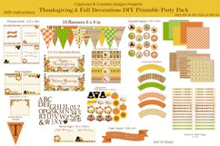 Thanksgiving & Fall Decorations DIY Printable Party Pack Product Image 1