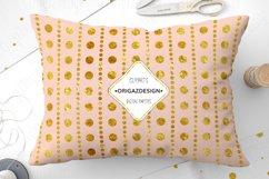 Gold foil Polka dot Blush Pink Seamless Pattern Product Image 5