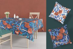 Digital pattern with Pomegranates and Birds Product Image 3