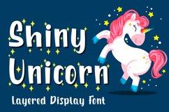 Shiny Unicorn - Display Font Product Image 1