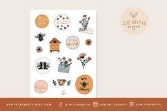 Botanical Printable Stickers | Cricut Design Sticker Sheet Product Image 2