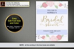 Gold welcome bridal shower sign, Welcome printable, DAD_24 Product Image 6