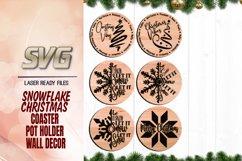 Christmas Snowflake Tree Coaster Svg Glowforge Files Bundle Product Image 1