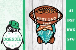 Gnome American Football Best dad fathers day layered mandala Product Image 2