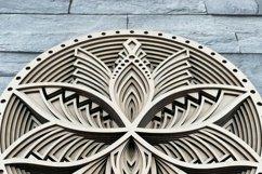Layered Mandala SVG, Cut file Mandala, Flower mandala, Lotus Product Image 3