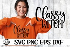 Classy Witch - Halloween - Witch - SVG PNG EPS DXF Product Image 1