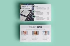 PPT Template | Project Proposal - Green and Marble Product Image 6
