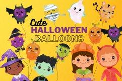 Halloween Balloons clipart. Digital Halloween Balloon Product Image 1