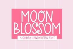 Moon Blossom - A Quirky Handwritten Font Product Image 1