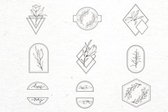 Floral logo elements-logo frames-botany-vector SVG PNG Product Image 4