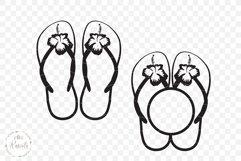 Hibiscus Flip Flops/ 1 Product Image 4