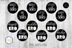 Sister Brother Big Little Bundle SVG PNG DXF Cutting File Product Image 1