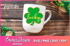 St Patrick's Day Mandala Clover SVG Zentangle Design Product Image 5
