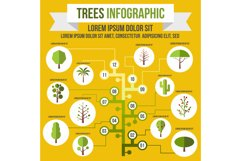 Tree infographic, flat style Product Image 1