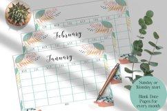 Monthly Calendar, Blank Calendar, Sunday start, Monday start Product Image 3