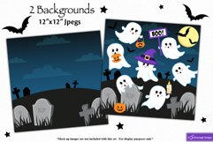 Halloween clipart, Ghost graphics & illustrations C48 Product Image 4