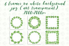 Clover. Watercolor set. PNG, JPG Product Image 4