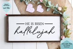 He Is Risen, Hallelujah Easter Cut File Product Image 1