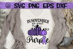 In November- We Wear Purple - Pumpkin - SVG PNG DXF EPS Product Image 1