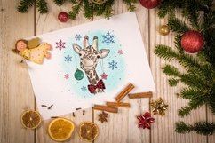 Cute Giraffe Sublimation Design PNG, New Year Bundle Product Image 5