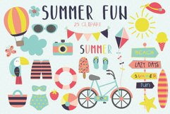 Summer fun clipart and paper set Product Image 1