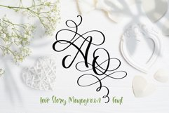 Love Story Monogram Font Product Image 1