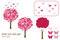 Butterfly Tree PNG SVG Pomegranate Pink Product Image 3