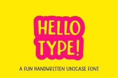 Hello type - a fun handwritten font Product Image 1