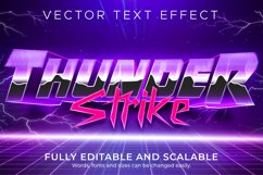 Retro, vintage text effect, editable 70s and 80s text style Product Image 1