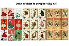 Vintage Christmas Junk Journal or Scrapbook Add Ons Kit PDF Product Image 6