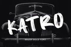 Katro Brush Bold Font Product Image 1