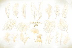 Watercolor & Gold Tropical Leaves Collection Product Image 9