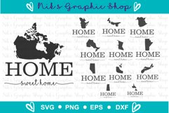 Home Svg, Canada Svg, Canadian Silhouette Svg, Home Sign Product Image 2