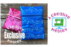 Dragonfly Motif Zipper Bag In the Hoop for 5×7 hoops Product Image 1