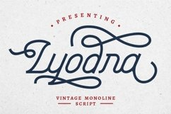 Lyodra - Modern Vintage Script Product Image 1