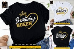 Birthday Queen - Birthday Girl - Crown SVG DXF EPS PNG Cut Product Image 1