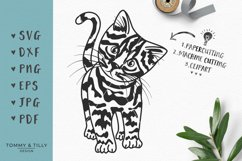 Kitten - SVG DXF PNG EPS JPG PDF Cutting File Product Image 1