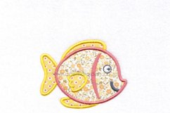 Yellow Tang Pet Fish Applique Machine Embroidery Design Product Image 2
