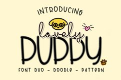 Lovely Puppy - Font duo with bonus Product Image 1