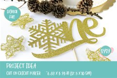 One Cake Topper with Snowflake svg   1st Birthday SVG Product Image 4