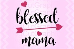 Blessed Mama SVG DXF File for Cricut and Silhouette, PNG PDF Product Image 1
