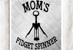 Mom's Fidget Spinner SVG/DXF/EPS File Product Image 1