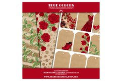Christmas Digital Paper Pack Fashion Clipart Fashion Blogger Product Image 4