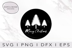 Merry Christmas SVG-Christmas SVG-Winter SVG-Tree Clip Art Product Image 1
