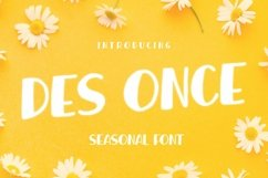 Web Font DES ONCE Font Product Image 1