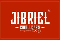Jibriel Typeface with Small Caps Product Image 6