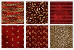 Red & Gold Digital Paper Pack Product Image 4